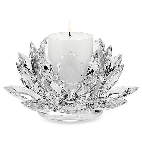 Church candle holder cheap clear crystal tealight holder crystal lotus candle holder
