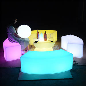 hookah lounge led furniture sofa set nightclub restaurant furniture led bar cocktail table and chair sofa sets for event