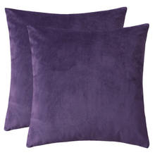 Velvet soft solid square throw pillow cushion for sofa bedroom