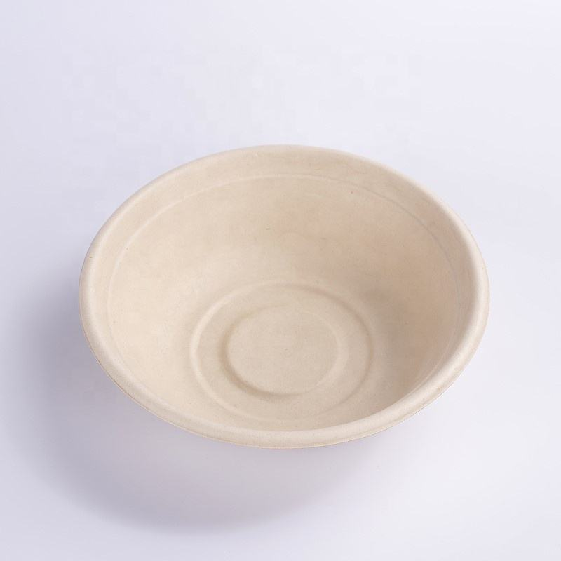 Biodegradable and Compostable Sugarcane Pulp 32OZ Salad Bowl