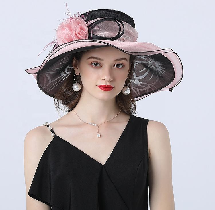 2020 fashion tea party hat detachable dual use church hats new design kentucky derby horse adults female kentucky derby day hats