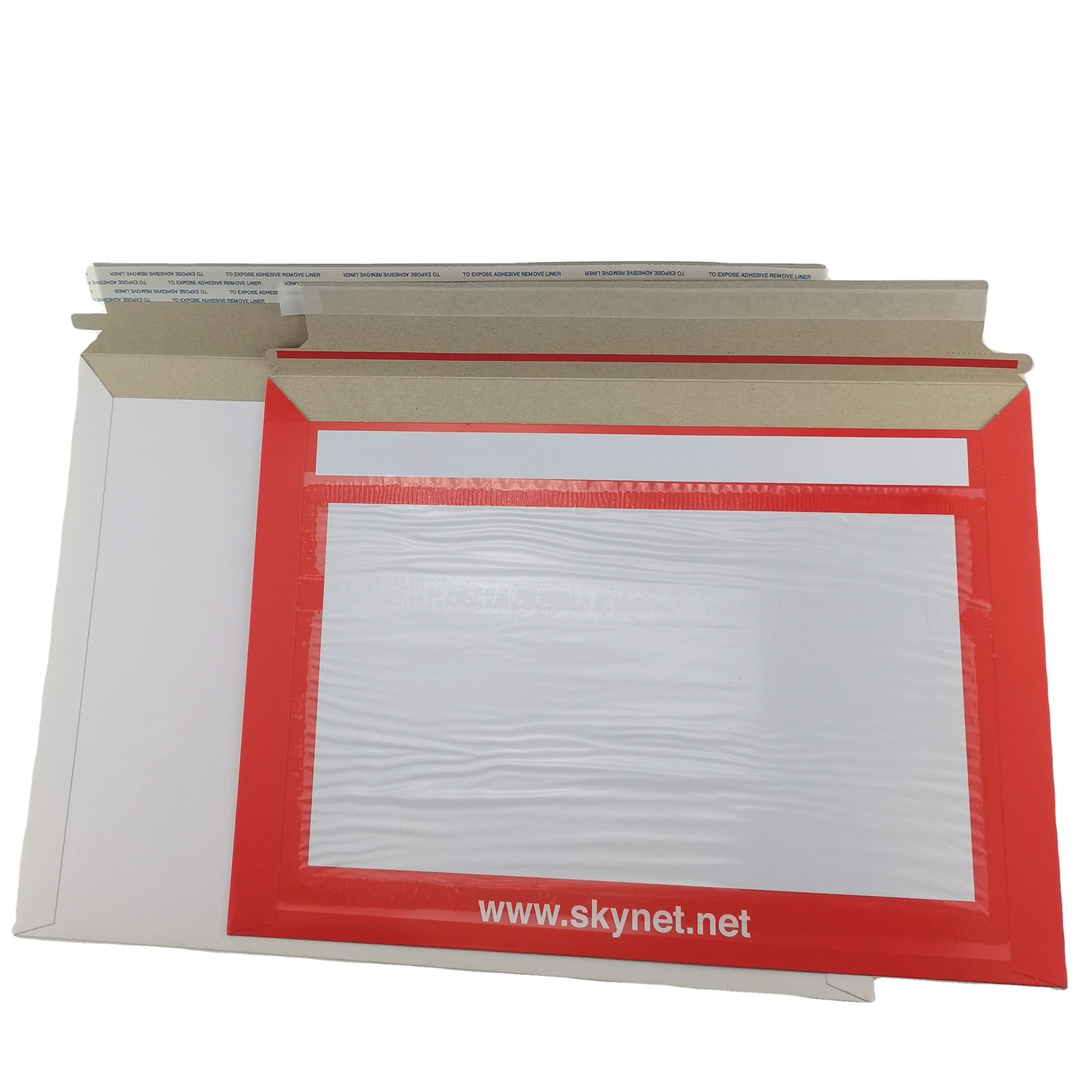 Hard Self Adhesive Peel&Seal Cardboard Postal Envelopes With Custom Printing