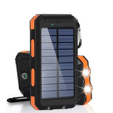 SUVPR Waterproof Solar Panel Power Banks Mobile Solar Power Bank 20000mah With Led Light