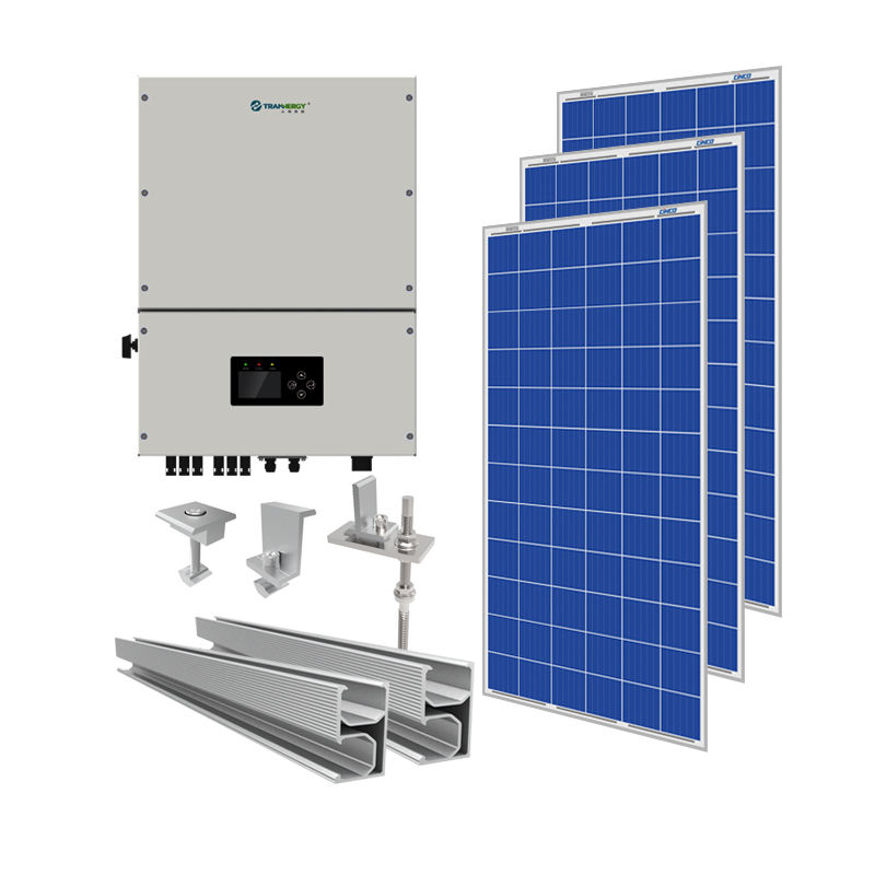 15KW solar power system home (solar panel+solar inverter+solar panel rack)