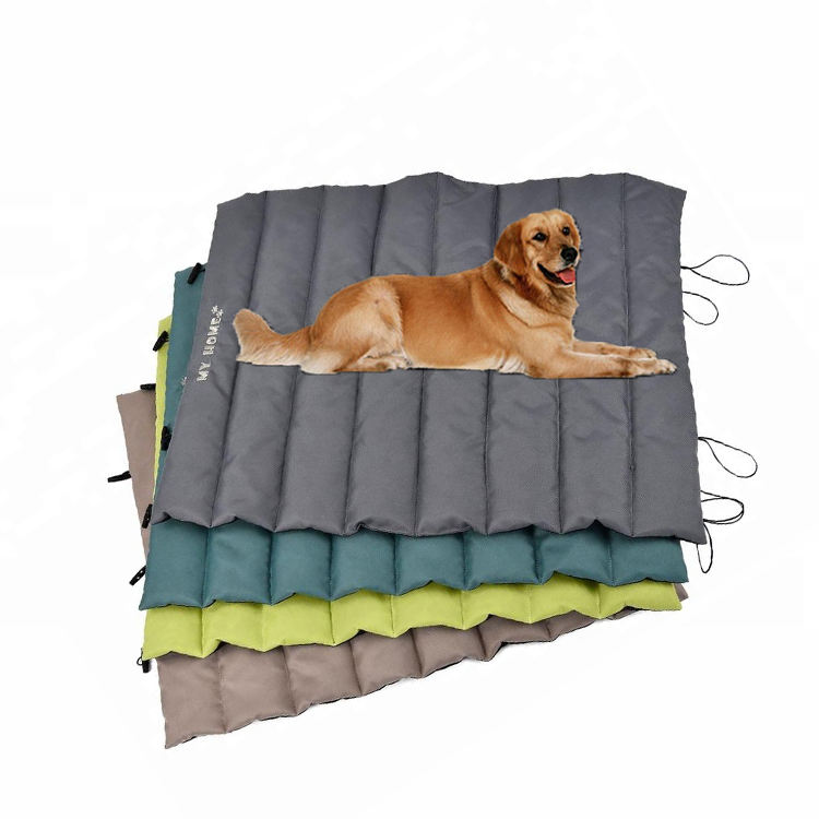 Oxford Travel Detachable Washable Portable Folding Waterproof Travel Pet Bed Dog Cooling Mat