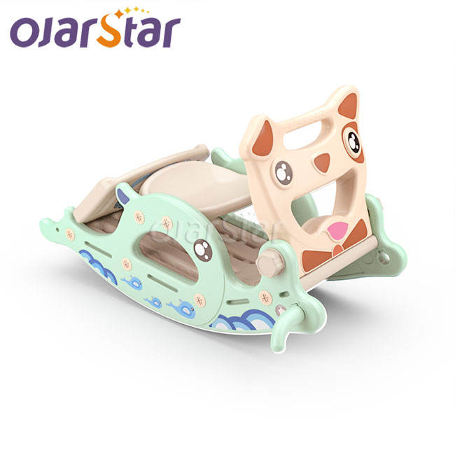Plastic Playground [ Horse Toys ] Horse Plastic Playground Slide Multifunctional Plastic Children's Rocking Horse Slide 4 In1 Indoor Household Kids Mental Development Toys For Babies