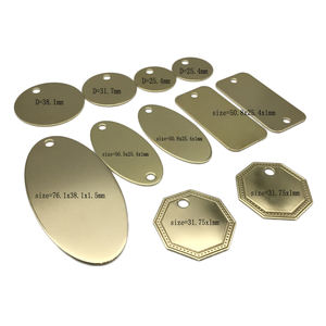 Chinese Supplier Custom Different Types Brass Metal Stamping Blank Tag