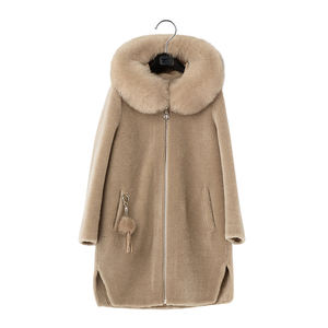 2020 Factory Directly Supply Wholesale 100% Real Womens' Leather Wool Parka,Khaki Parka,Fashion Winter Ladies Women Clothing