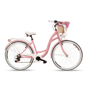 fashionable pink 2020 speed 26 inch women lady city bike with basket