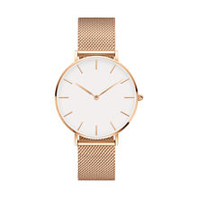 High quality stainless steel wrist watch women simple fashion minimalist watch for sale
