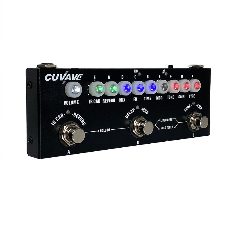 CUVAVE Cube Baby Manufactory Chorus Phaser Delay Reverb Distortion guitar pedal effect Multi Effect Guitar Pedal Low Price
