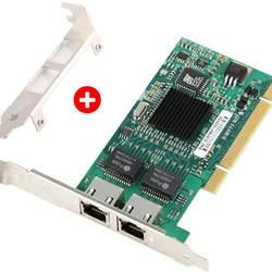 10/100/1000Mbps Dual Port RJ45 Ethernet Adapter Converter for Desktop PC, Gigabit Ethernet PCI Network Controller Card