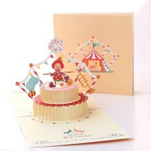 Wholesale happy birthday new year Santa Claus snowman Christmas card greeting cards pack