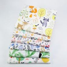 100% cotton Cartoon printed Woven twill bedding Set baby fabric