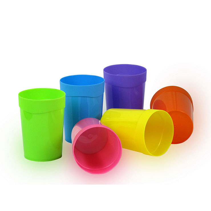 6pcs/set 400ml colored plastic water cups sets promotional