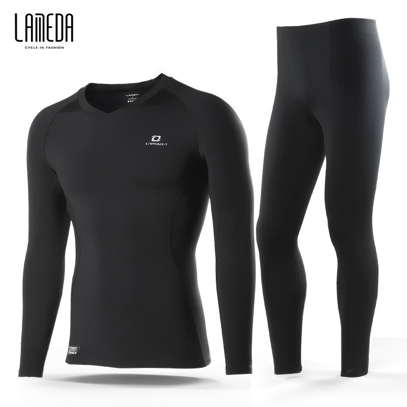 LAMEDA Commercio All'ingrosso di Inverno Outdoor Sport Ciclismo Sets Long Johns Biancheria Intima Termica Per Gli Uomini