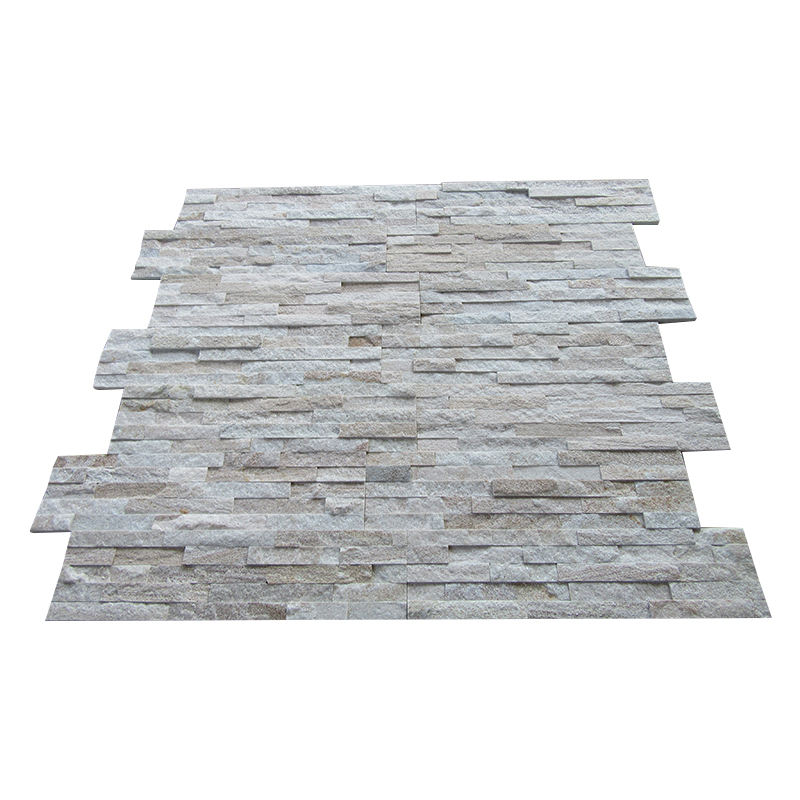 White Gold Quartzite Split Slate Natural Culture Stone Wall Tile