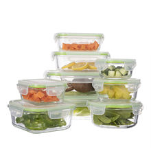 Bpa free borosilicate bento box large glass food storage container set eco lunch box set