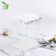Wedding Gift Custom Logo White Clear Square Tall Transparent Cake Box Pet Wedding Birthday Party Gift Box