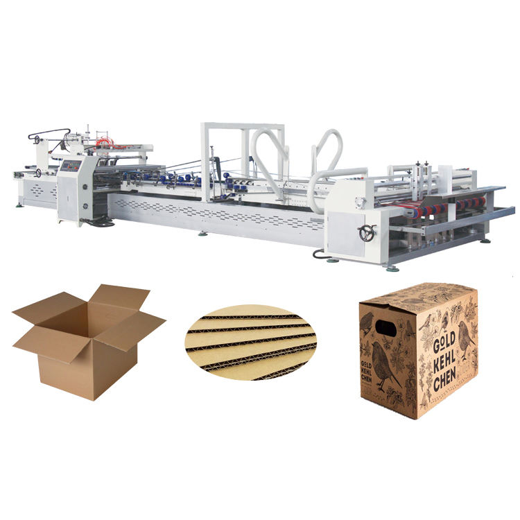 Used Automatic Stitching Corrugated Rigid Carton Box Making Forming Packing Sealing Machine Price in India