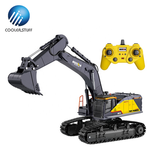 Huina 1592 592 1/14 scale upgrade digger full functional construction vehicles remote control excavator rechargeable rc truck