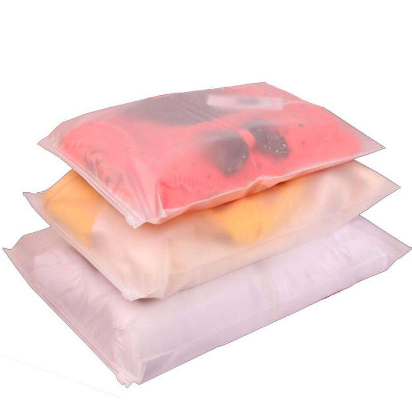 Eco friendly reasonable clothes packaging frosted plastic ziplock bag PE zip lock packaging bag