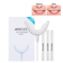 Custom Logo Home LED Blue Light Teeth Bleaching Kit Oral Hygiene Teeth Whitening Machine Tooth Whitener Pen Blanchiment Dentaire