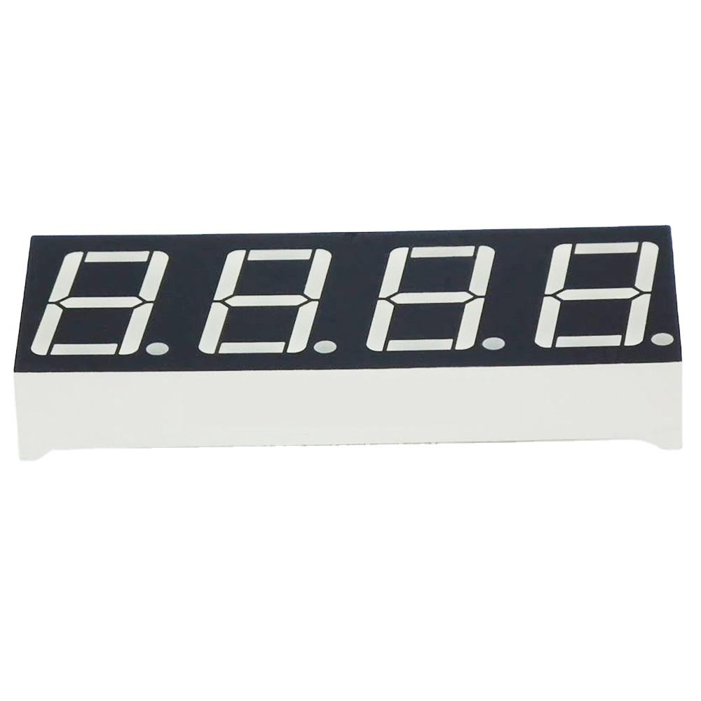 0.56 inch yellow color 4 digit seven segments led display sign for bus