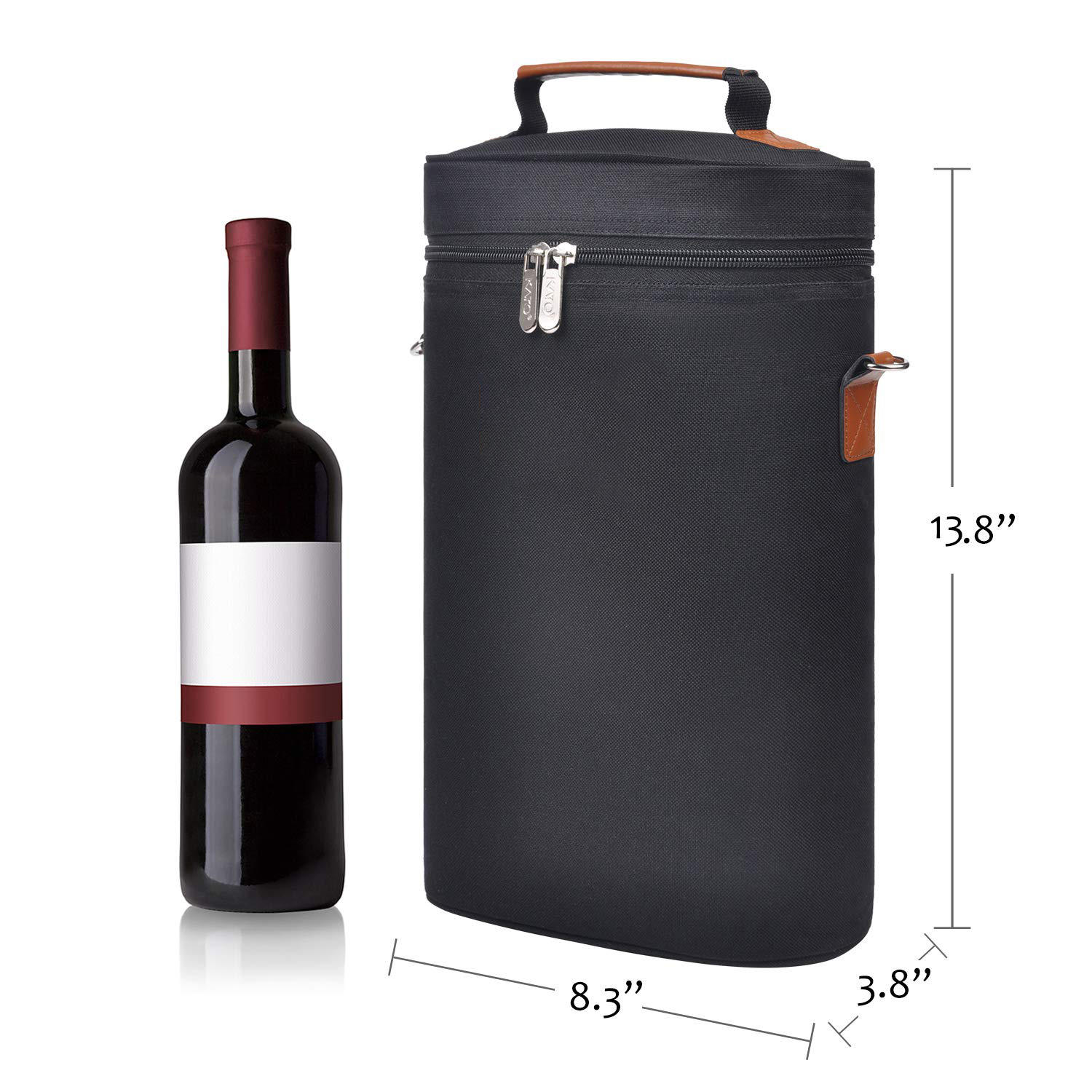2 Bottle Wine Carrier Bag Tote Insulated champagne tote bag Waterproof picnic BOX wine cooler bag