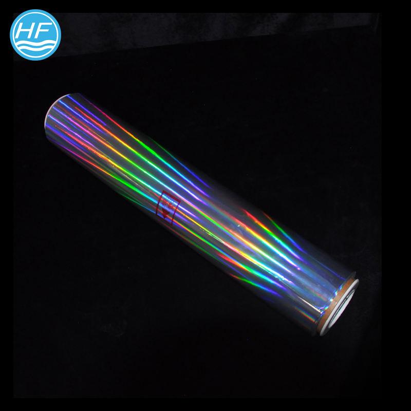 Металлизированный ПЭТ лазерная прозрачная плотная голографическая пленка для блесток в различных цветах и узорах