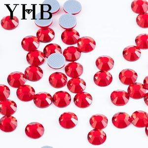 2020 YHB factory Stones Crystal Clear HotFix FlatBack Strass glass rhinestones from China