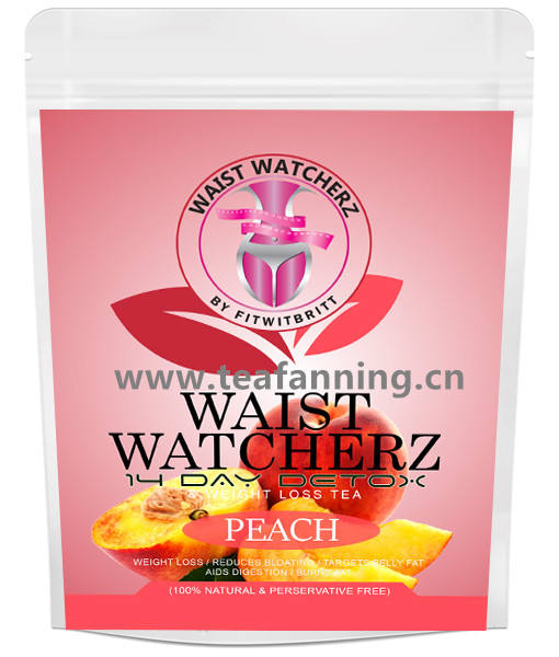 The 14 day peach flavor Lose Weight Tea, Customized all kinds of US market Herbal Teas