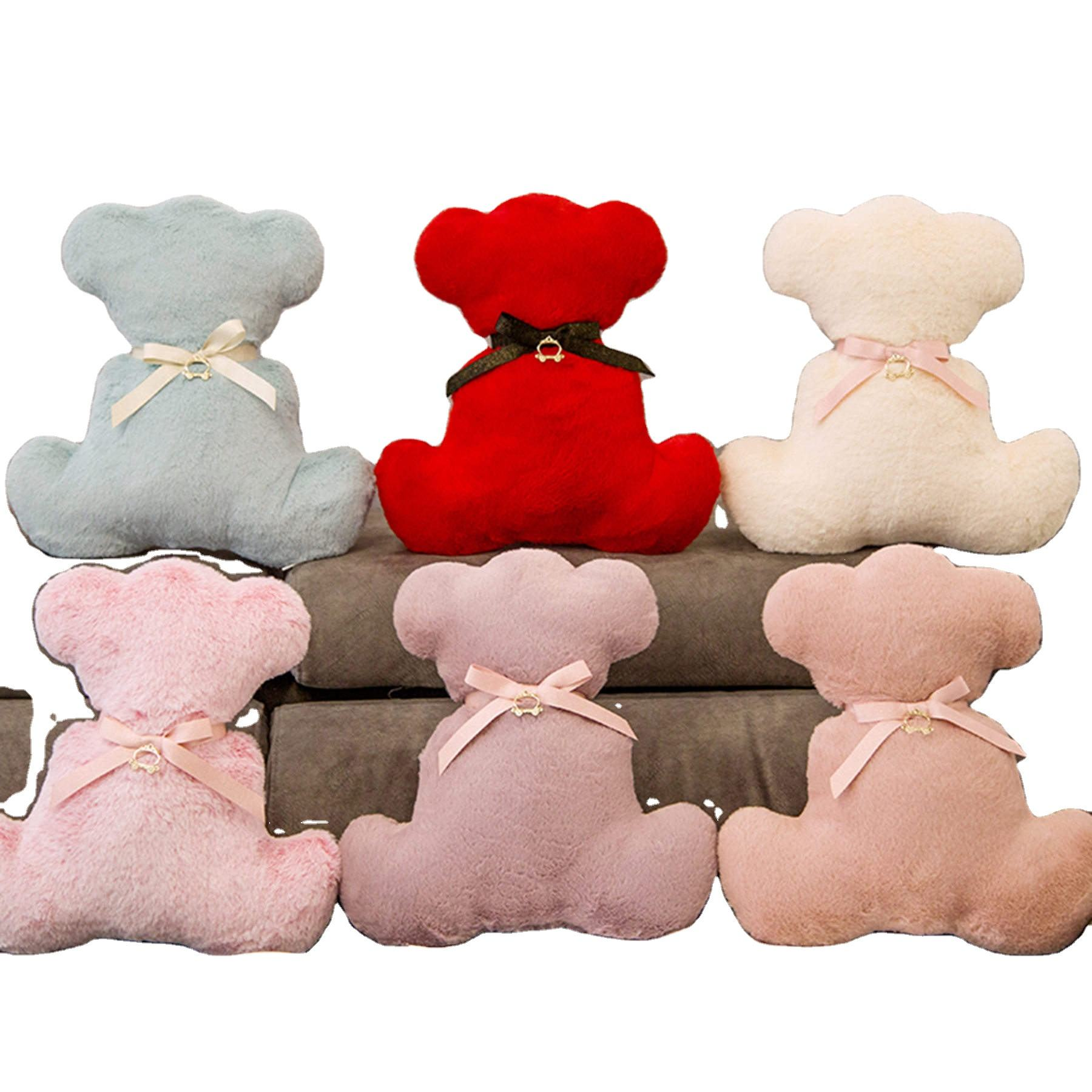 New design teddy bear back plush toy with silk small cute teddy bear