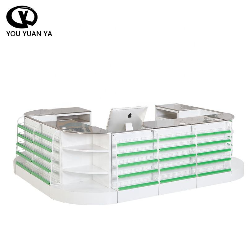 low price Convenience store cash counter table design used checkout counters for sale