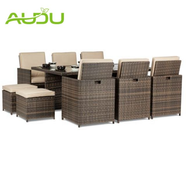 Audu Wicker Garden Patio outdoor cube seating
