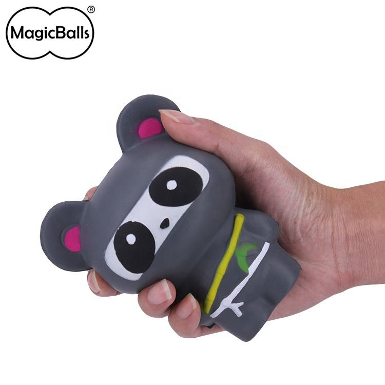 Promotion Anti-stress Gift For Children 11*7*13 cm Squishy Japanese Animation Ninja Panda Shape PU Foamed Toy Soft