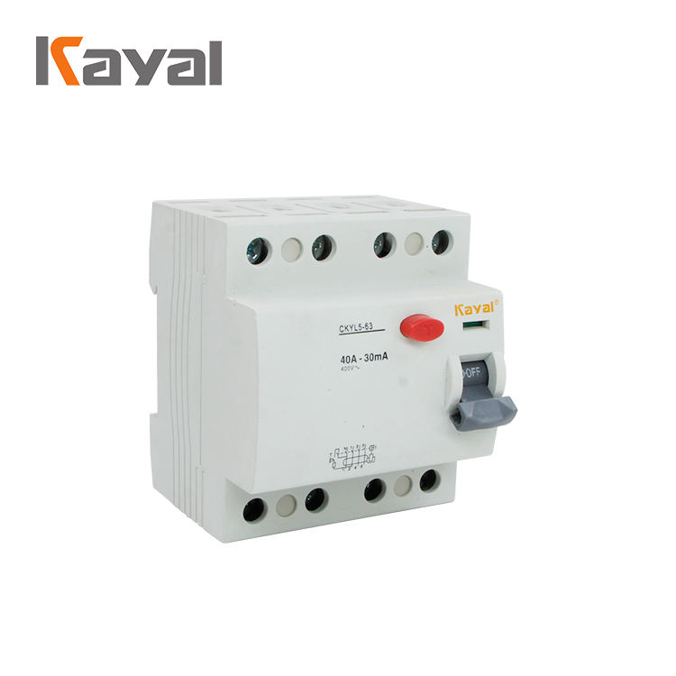 WenZhou Factory Price 2P 4P 20a 40a 50a 100a Electrical RCCB 10 ma 30ma 100ma 300 ma Residual Current Device Circuit Breaker