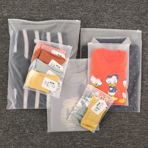 Dust-proof Matte Ziplock Slider Bag Plastic Frosted Zipper Slider Bag