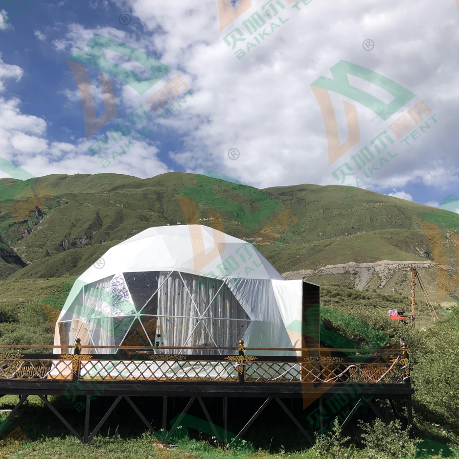 dongguan bubble geo soundproof glass geodesic dome tent