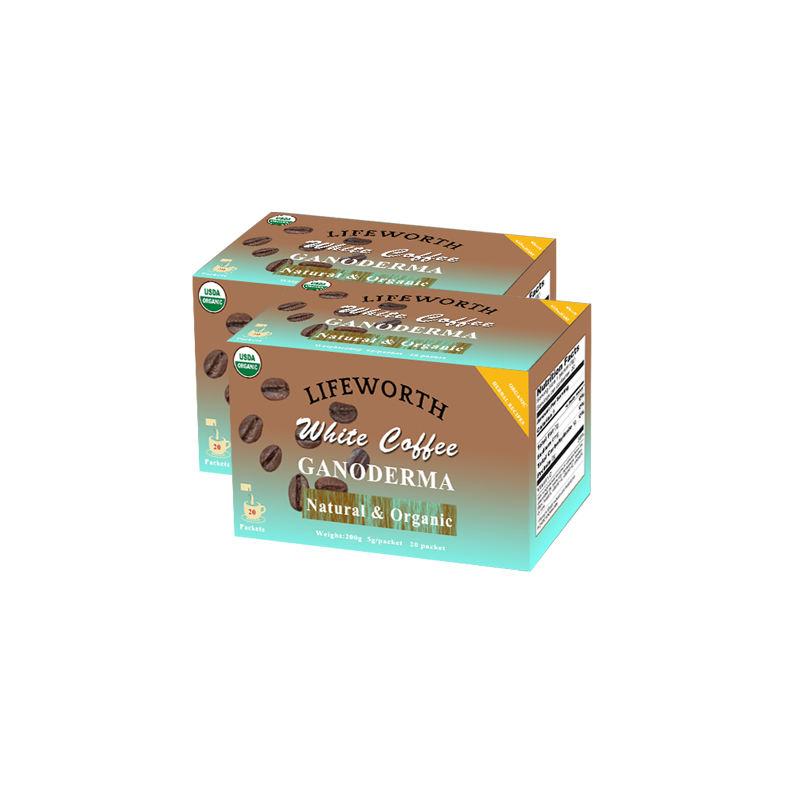 Lifeworth bulk organic mushroom ganoderma lucidum instant white coffee powder