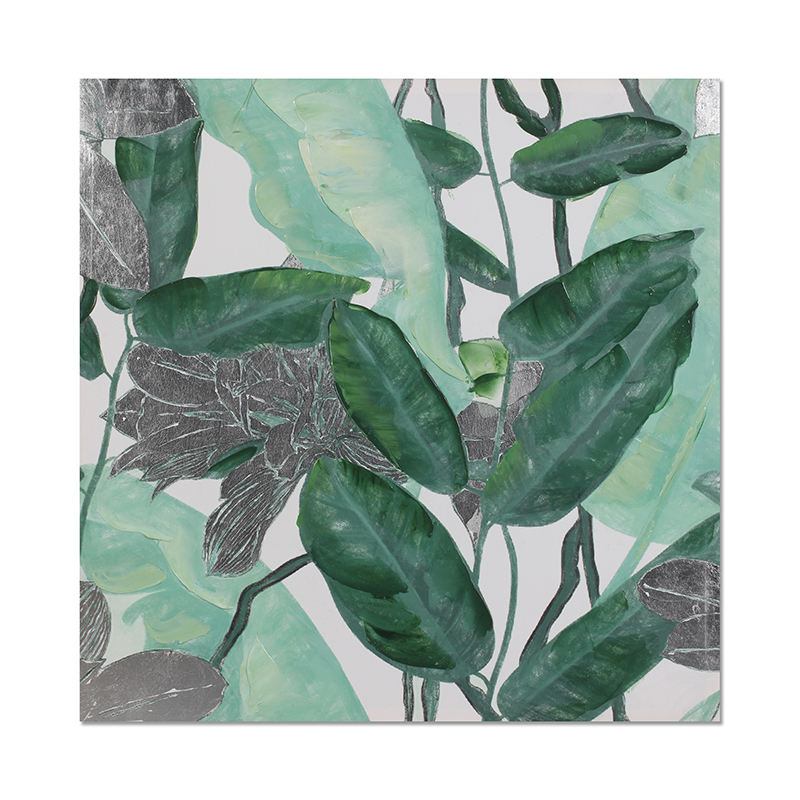 New fashion floral design green leaves wholesale modern canva oil painting buyers