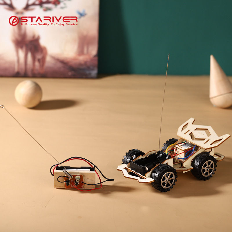 Educational science kit DIY STEM TOYS -science kit RC control Electric Wind car educational kit for kids