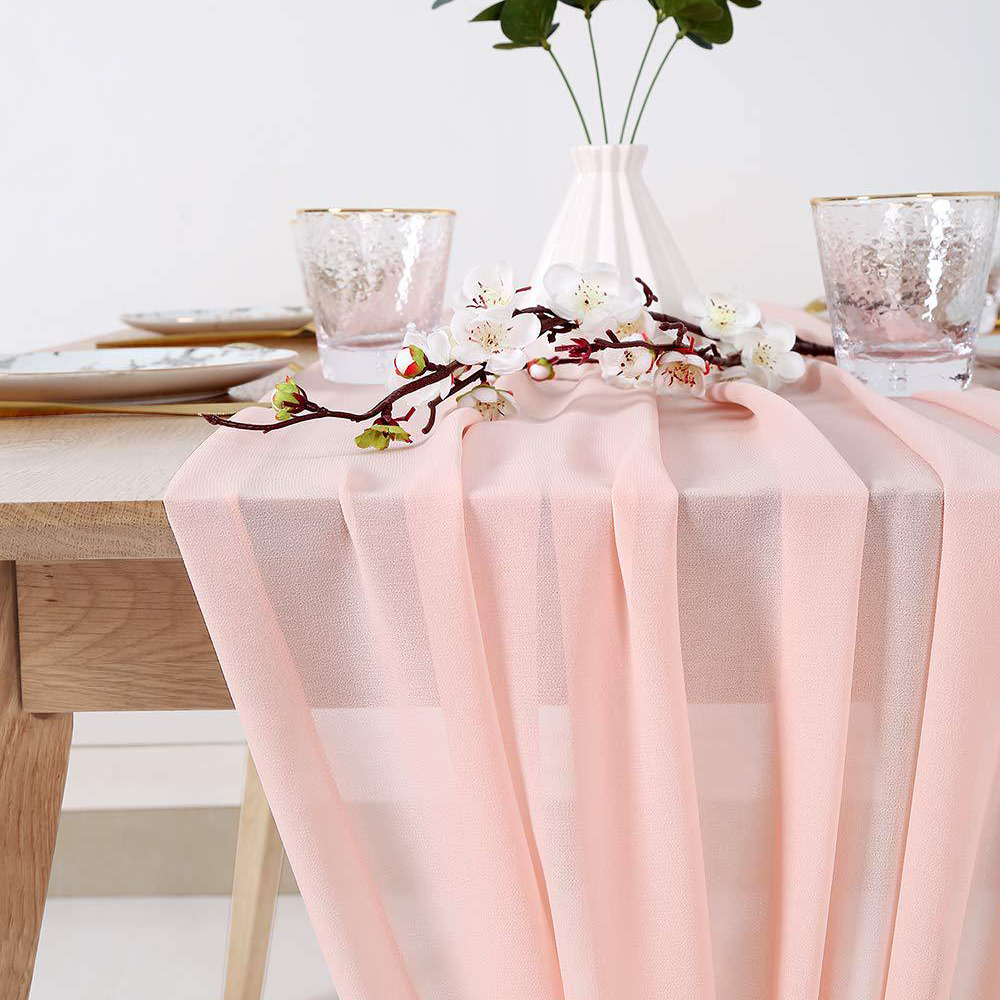 Chiffon Table Runners Fancy Wedding Event Table Decoration Table Cloths