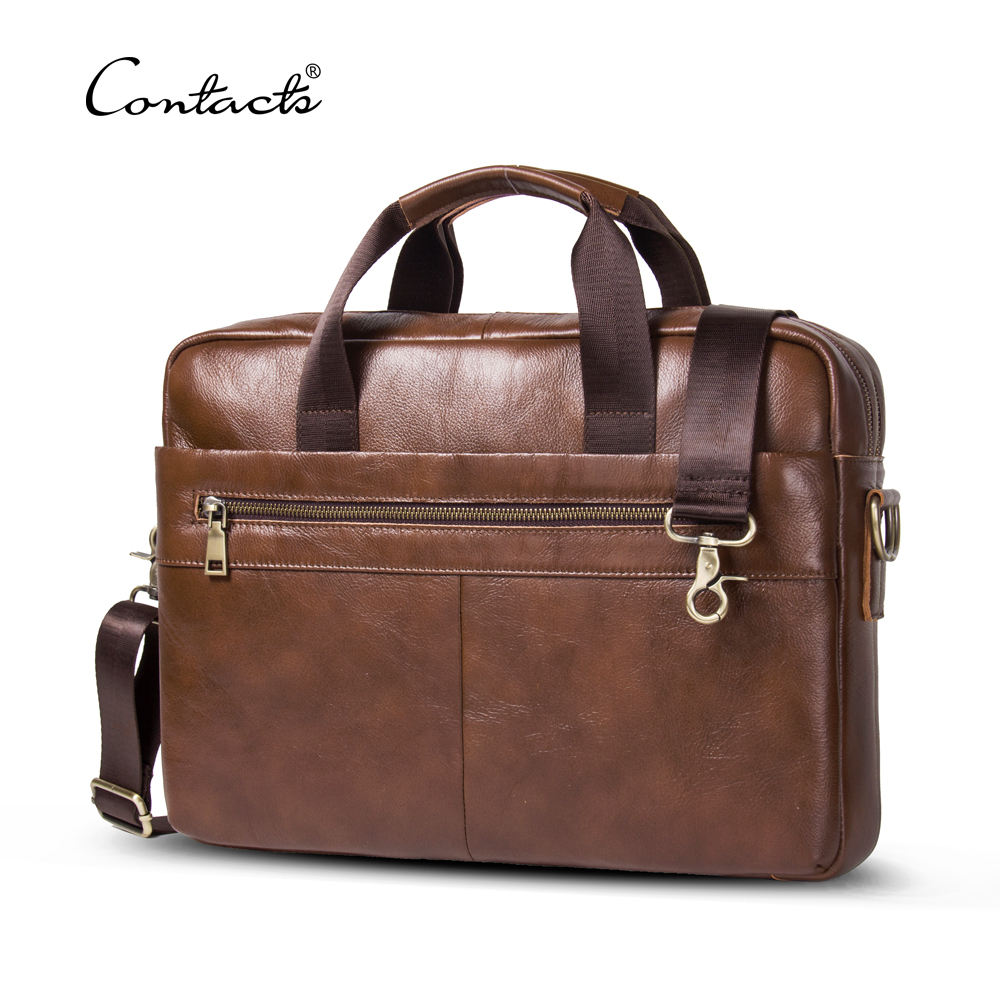 contact's dropship wholesale odm/oem/logo factory custom genuine leather 14 inch high quality men vintage laptop briefcase bag