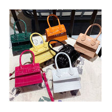 Fashion Small Crocodile Pattern Women's Bag Crossbody PU Leather Top-handle Handbags Mini Shoulder Bag Women Messenger Bags
