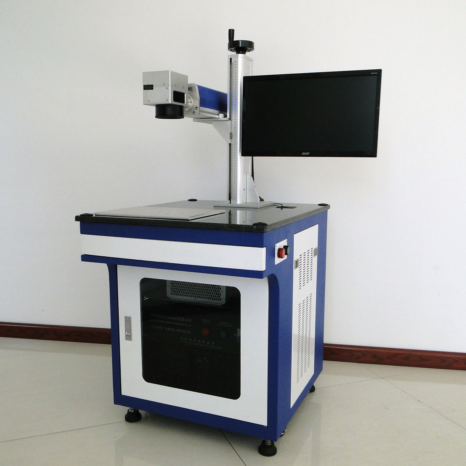 Faith Best price Fiber/UV/co2 flying laser marking machine from China Industrial Laser printing machine
