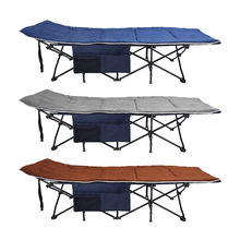 2020 Iron frame folding cot OEM outdoor sleeping bed camping portable folding camping cot