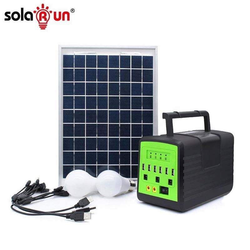SOLARUN 2020 New Design 30w 18v Poly Free Energy Solar Charging Station