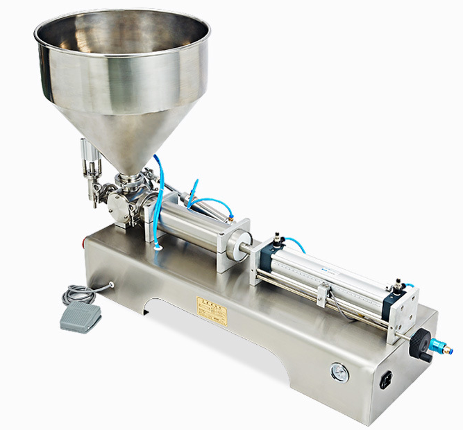 Horizontal Type High accuracy semi automatic coconut oil bottle liquid milk bottle filling machine