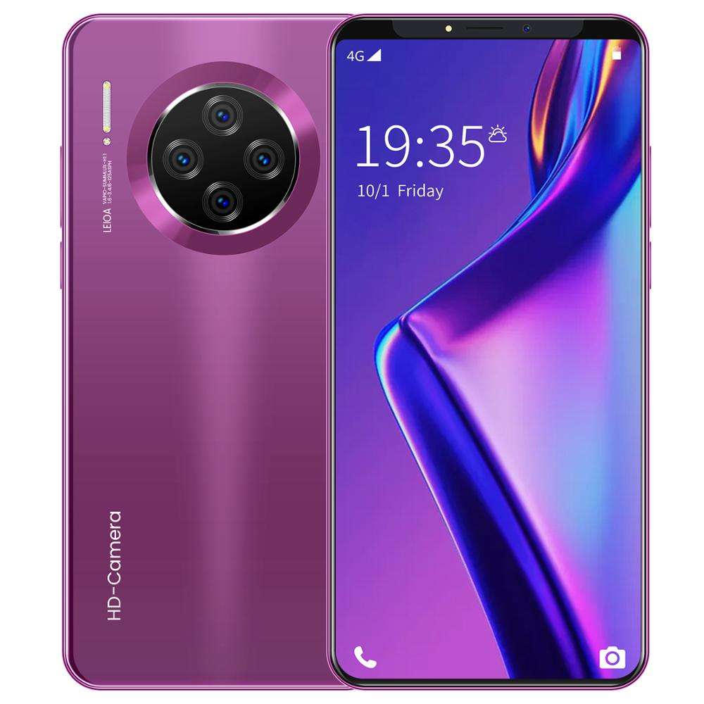 Unlocked smartphone Octa core Mate33 Pro 6.1 inch Full HD Display 1GB+8GB cellphone with Glass Back Cover Android Mobile Phones